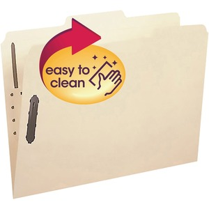 "Smead Top Tab Folders with Fastener - Letter - 8.5"" x 11"" - 1/3 Tab Cut - 0.75"" Expansion - 2 Fastener - 24 / Box - Manila"