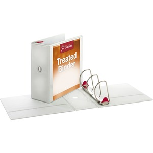 Cardinal Antimicrobial ClearVue Locking Slant-D Ring Binder CRD32150