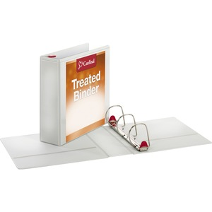 Cardinal Antimicrobial ClearVue Locking Slant-D Ring Binder CRD32130