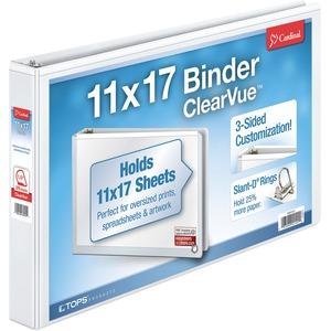 """11"""" x 17"""", ClearVue Slant-D Ring Binder"""