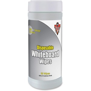 Falcon DWBT Whiteboard Wipe - Disposable - White