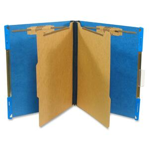 "SJ Paper Hanging Classification Folder - Letter - 8.5"" x 11"" - 2"" Expansion - 10 / Box - 25pt. - Cobalt"