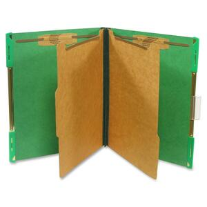 "SJ Paper Hanging Classification Folder - Letter - 8.5"" x 11"" - 2"" Expansion - 10 / Box - 25pt. - Green"