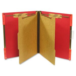"SJ Paper Hanging Classification Folder - Letter - 8.5"" x 11"" - 2"" Expansion - 10 / Box - 25pt. - Ruby Red"