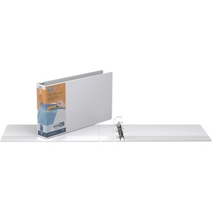 "Stride QuickFit Ledger Binder - Ledger, Legal - 11"" x 17"", 11"" x 14"" - 2"" Capacity - 1 Each - White"