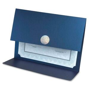 "First Base Metallic Certificate Holder - 12.5"" x 9.75"" - 3 / Pack - Blue"