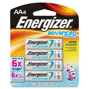 Energizer Advanced Lithium AA4 Battery (EA91BP4)