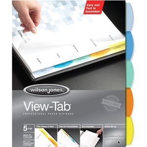 Wilson Jones View-Tab Paper Divider WLJ55964