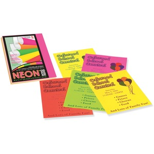 "Pacon Neon Bond Paper - Letter - 8.5"" x 11"" - 24lb - 1 Pack - Assorted"