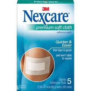 Nexcare Soft Cloth Premium Adhesive Gauze Pad