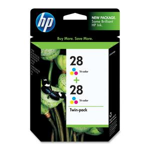 HP 28 2-pack Tri-color Original Ink Cartridges HEWCD995FN