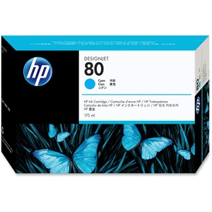 HP 80 Cyan Ink Cartridge HEWC4872A