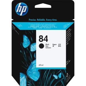 HP INC. - WIDE FORMAT INK #84 BLACK INK CART 69ML FOR DESIGNJET 10PS/20PS/50PS/130/130R