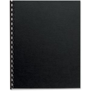FELLOWES 25PK BINDING COVERS FUTURA BLACK LETTER SIZE