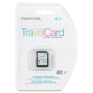 Memorex TravelCard 4 GB Secure Digital High Capacity (SDHC) MEM07580