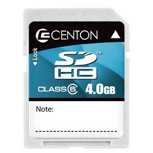 Centon 4 GB Secure Digital High Capacity (SDHC) - 1 Card 4GBSDHC6-01