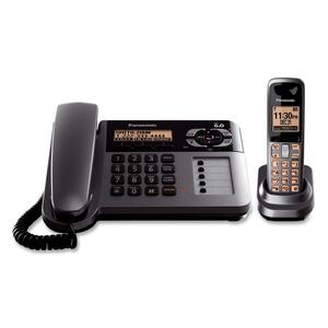 Panasonic Cordless Phone - 1.90 GHz - DECT 6.0 - Metallic Gray, Black PANKXTG1061M