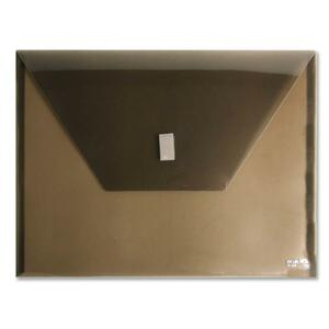 ITOYA PolyEnvelope Vinyl File Pocket - Letter - 8.5&quot; x 11&quot; - 1 Each - Transparent Smoke