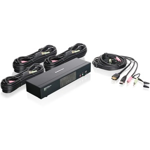 4PORT HDMI MULTIMEDIA KVM SWITCH W/AUDIO USB 2.0 HUB & CABLES