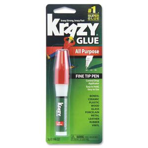 Krazy Glue Original Formula Glue Pen - 0.11oz - 1 / Pack - Clear