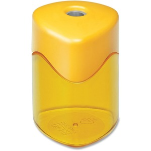 "Baumgartens Trio Geo Pencil Sharpener - Handheld - 1 Hole(s) - 1.75"" - Assorted"