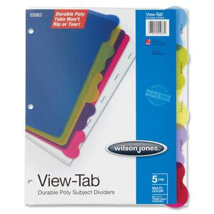 Wilson Jones View-Tab Poly Divider without Pockets WLJ55083