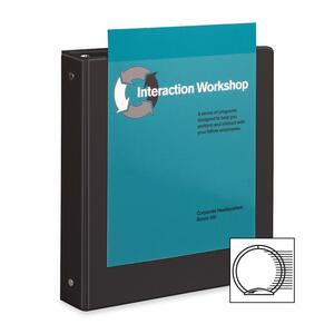 Black . Clear Cover. Clear Spine. Presentation Binder