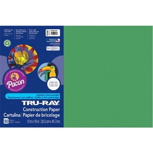 "Tru-Ray Construction Paper - 12"" x 18"" - Holiday Green"