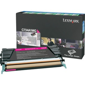 Lexmark Magenta Return Program Toner Cartridge LEXC734A1MG