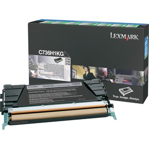 Lexmark Black High Yield Return Program Toner Cartridge LEXC736H1KG