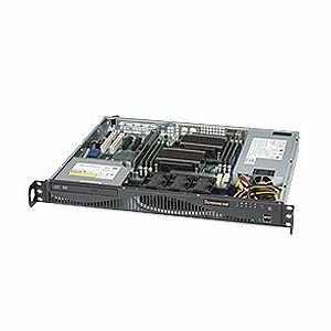 Supermicro SuperServer 6016T-MR Black (Barebone) - 1U - 2xLGA1366 - 6xDDR3 ECC DIMMs - 1xSATA - PCIe - 2xGIGABIT - 520W (SYS-6016T-MR)
