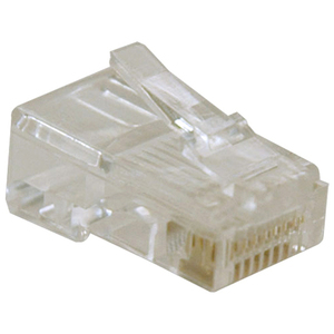 10PK CAT5 MODULAR RJ45 SOLID CONNECTORS 4PR PATCH CORD