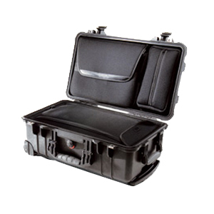 "Pelican 1510LOC Laptop Overnight Case with Foam - Internal Dimensions: 19.75"" Height x 11"" Width x 7.60"" Depth - External Dimensions: 22.0"" Height x 13.8"" Width x 9.0"" Depth - Rubber - Black"