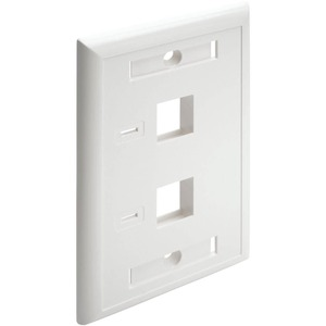 2PORT WHITE KEYSTONE FACEPLATE FOR N238 SERIES JACKS