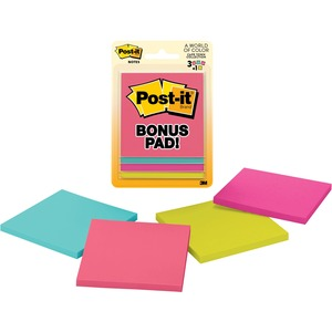 3M - SUPPLIES 50-SHEET/PADS POST IT NOTES ASSORTED ULTRA COLOURS 3X3IN RULED