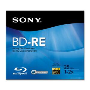 Sony Blu-ray Rewritable Media - BD-RE - 2x - 25 GB - 1 Pack SONBNE25