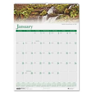 House of Doolittle Earthscapes Waterfalls of the World Wall Calendar HOD3811