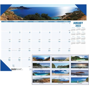 House of Doolittle Earthscapes Coastlines Desk Pad Calendar HOD178
