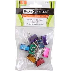 Baumgartens Metallic Colored Binder Clip BAU29720
