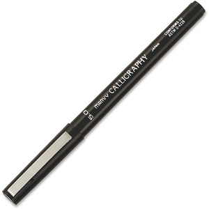Marvy Calligraphy Marker - 5 mm Pen Point Size - Black Ink - Black Barrel - 1 Each