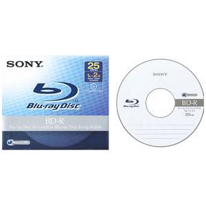 Sony BNR25A 6x BD-R Media 50BNR25AP6