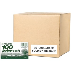 "Roaring Spring Environotes Ruled Index Card - 100 Sheet(s) - 5"" x 3"" - 100 / Pack - White"