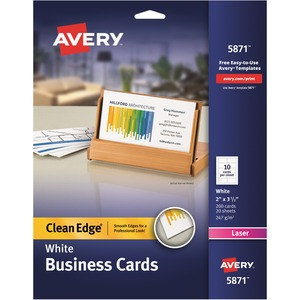 Avery Clean Edge Business Card AVE5871