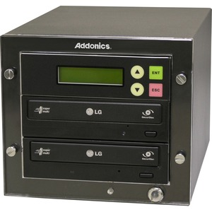 Addonics DGC1 - (1:1 DVD Duplicator) - Standalone - DVD-ROM, DVD-Writer - 24x DVD+R, 24x DVD-R, 12x DVD+R, 12x DVD-R, 48x CD-R - 6x DVD-RW, 8x DVD+RW, 12x DVD-RAM, 32x CD-RW