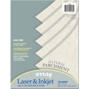 "Pacon Array Bond Paper - Letter - 8.5"" x 11"" - 24lb - Parchment - 100 / Pack - Natural"