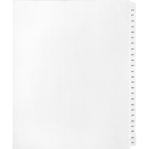 Kleer-Fax 90000 Series Numeric Side-Tab Index Divider - Blank - 26 Tab(s)/Set - 25 / Pack - White Divider