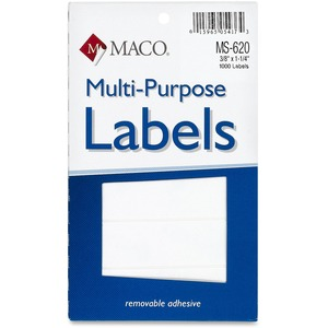 Maco MS-620 Multipurpose Removable Self-sticking Labels MACMS620