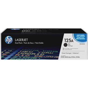 HP 125A 2-pack Black Original LaserJet Toner Cartridges HEWCB540AD