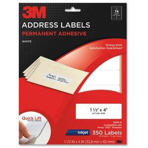 3M Address Label MMM3200D
