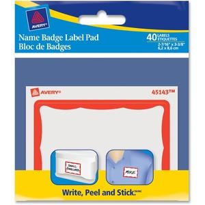 Name Badge Label Pad